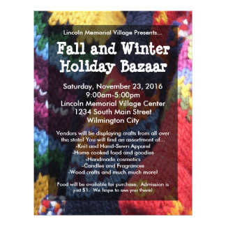 Holiday Bazaar Flyer, Colorful Yarn Flyer