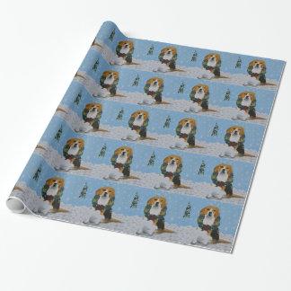 Holiday Beagles Gift Wrap