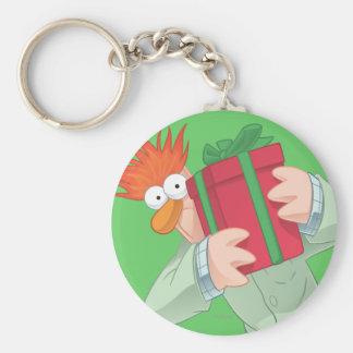 Holiday Beaker Basic Round Button Keychain