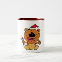 Holiday Bear Candycane Two-Tone Coffee Mug
