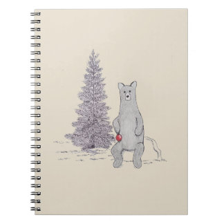 "Holiday Bear Notebook ""Tis the season"""