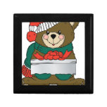 Holiday Bear Winter Stocking Destiny Gifts Trinket Boxes