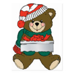 Holiday Bear Winter Stocking Destiny Gifts Postcard