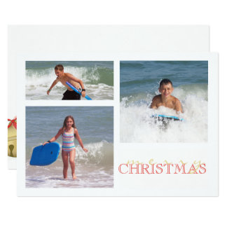 Holiday Bell MULTI Double Sided Card