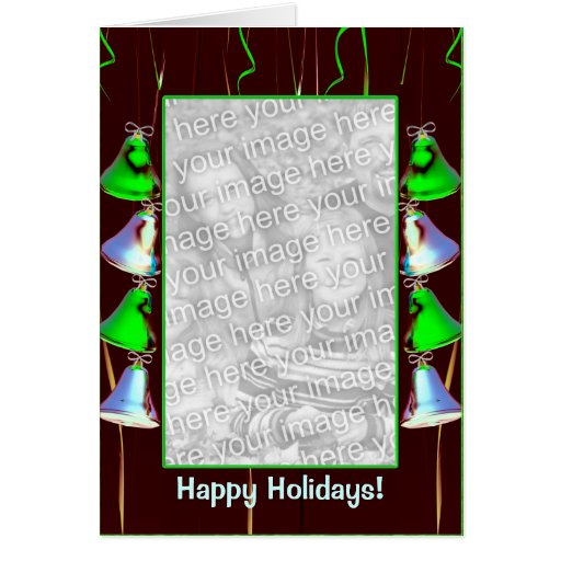 Holiday Bell Shine Dark (photo frame) (tall) Cards