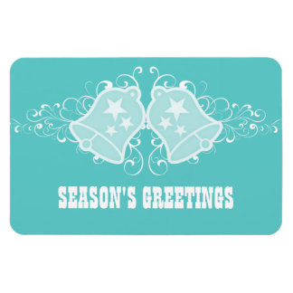 Holiday Bells and Swirls Premium Magnet, Aqua Magnet