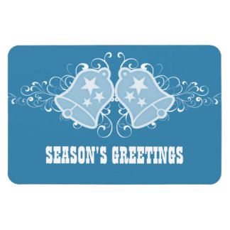 Holiday Bells and Swirls Premium Magnet, Blue Magnet