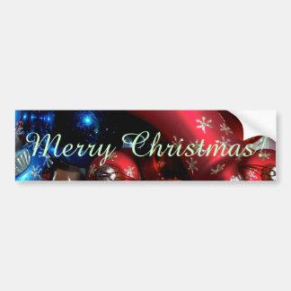 Holiday Bells & Bulbs Car Bumper Sticker