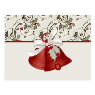 Holiday Bells Design 1 - Christmas Postcard
