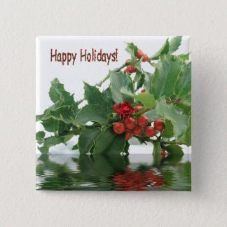 Holiday Berries, button