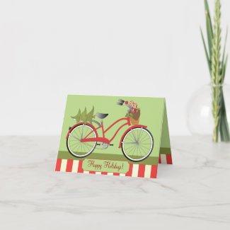 Holiday Bicycle card