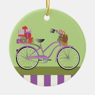 Holiday Bicycle Ceramic Ornament