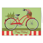 Holiday Bicycle Stationery Note Card