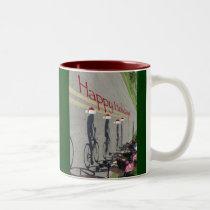 Holiday Bikers Two-Tone Coffee Mug