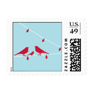 Holiday Birds Birds Stamps