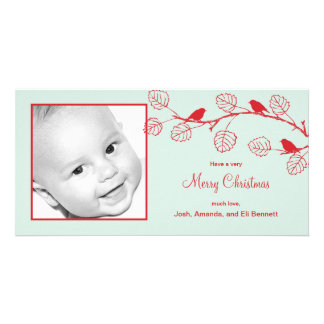 Holiday Birds Christmas Photo Card Personalized Photo Card