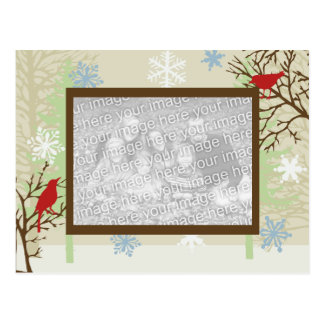 Holiday Birds Photo Postcard Template