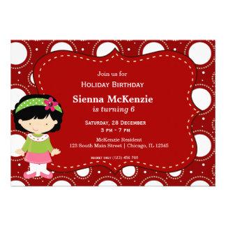 Holiday Birthday Custom Invites