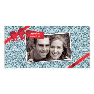 Holiday / Birthday Ribbon Photo Card