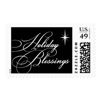 Holiday blessings bright star Bethlehem christmas Postage