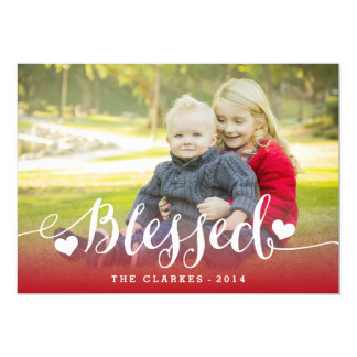 "Holiday Blessings   Holiday Photo Card 5"" X 7"" Invitation Card"