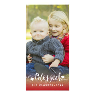 Holiday Blessings   Holiday Photo Card Portrait