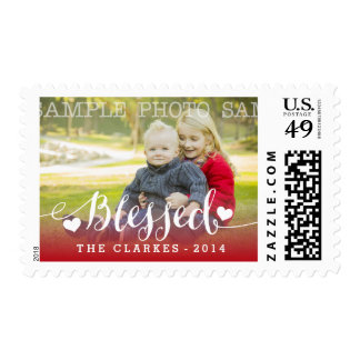 Holiday Blessings | Holiday Photo Postage