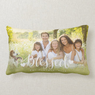 Holiday Blessings | Holiday Photo Throw Pillow