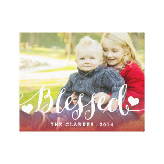 Holiday Blessings | Holiday Photo Wrapped Canvas Canvas Print