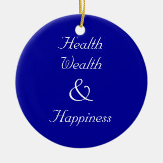 Holiday Blessings Ornament (Blue)