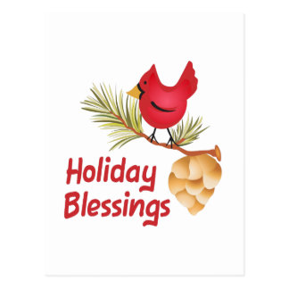 HOLIDAY BLESSINGS POSTCARD