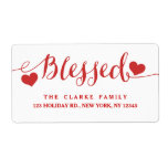 Holiday Blessings Red White | Address Label