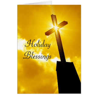 Holiday Blessings Religious Greeting Card