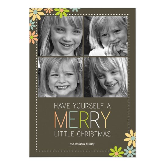 Holiday Blooms Christmas Cards/Holiday Photo Cards