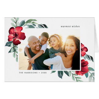 Holiday Blossoms Folded Photo Card