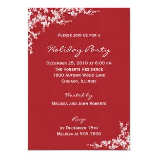 "Holiday Blossoms Holiday Party Invitations 5"" X 7"" Invitation Card"