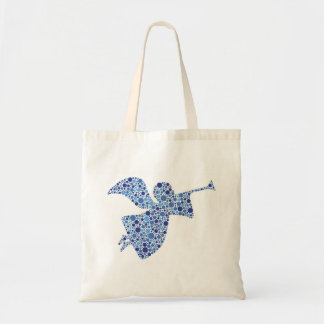 Holiday Blue Angel Blowing Trumpet Bag