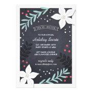 Holiday Botanicals Party Invitation
