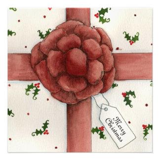 Holiday Bow Christmas Invitation