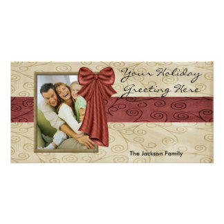 Holiday Bow Photo Card