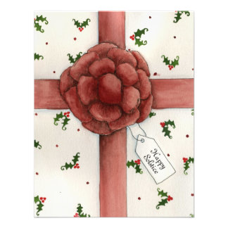 Holiday Bow Solstice Invitation