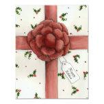 "Holiday Bow Solstice Invitation 4.25"" X 5.5"" Invitation Card"
