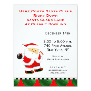 Holiday Bowl Invitations at Zazzle
