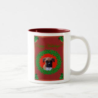 Holiday Boxer puppy mug