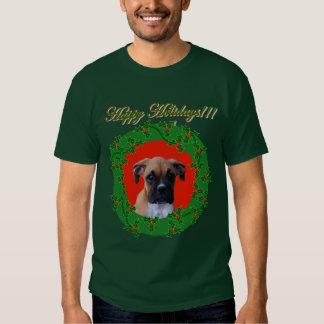 Holiday boxer puppy shirt