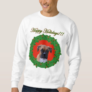 Holiday boxer puppy sweatshirt