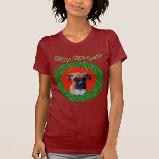 Holiday Boxer puppy t-shirt