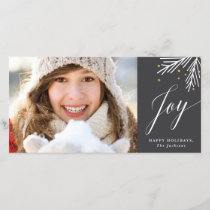 Holiday branch faux foil photo card