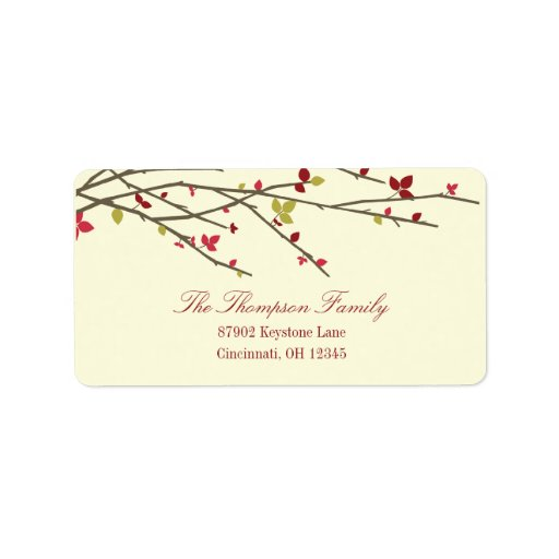 Holiday Branches Holiday Address Label Address Label