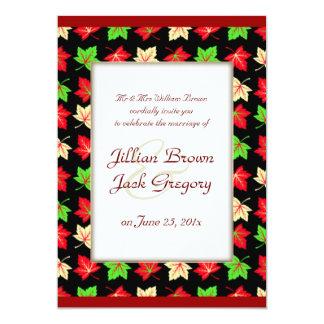 Holiday Bright Pattern WEDDING Card